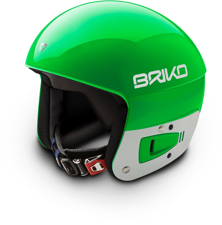 Briko Vulcano FIS JR helmet - Sulfuric Green Blue Sky