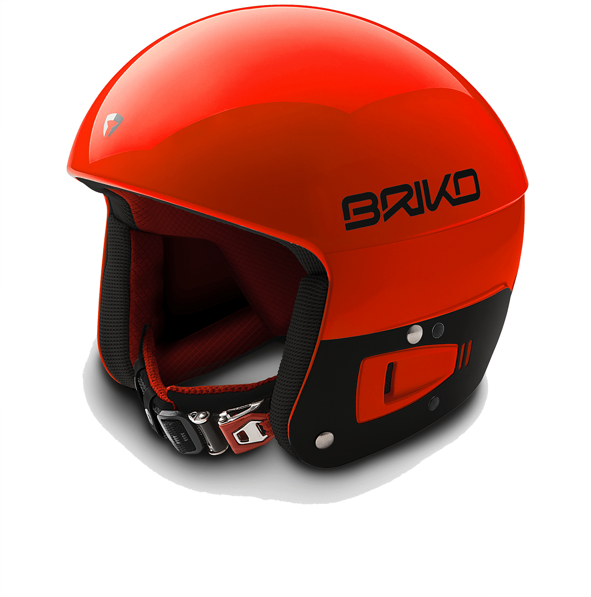 Briko Vulcano FIS JR Helmet - Orange Fluo Black