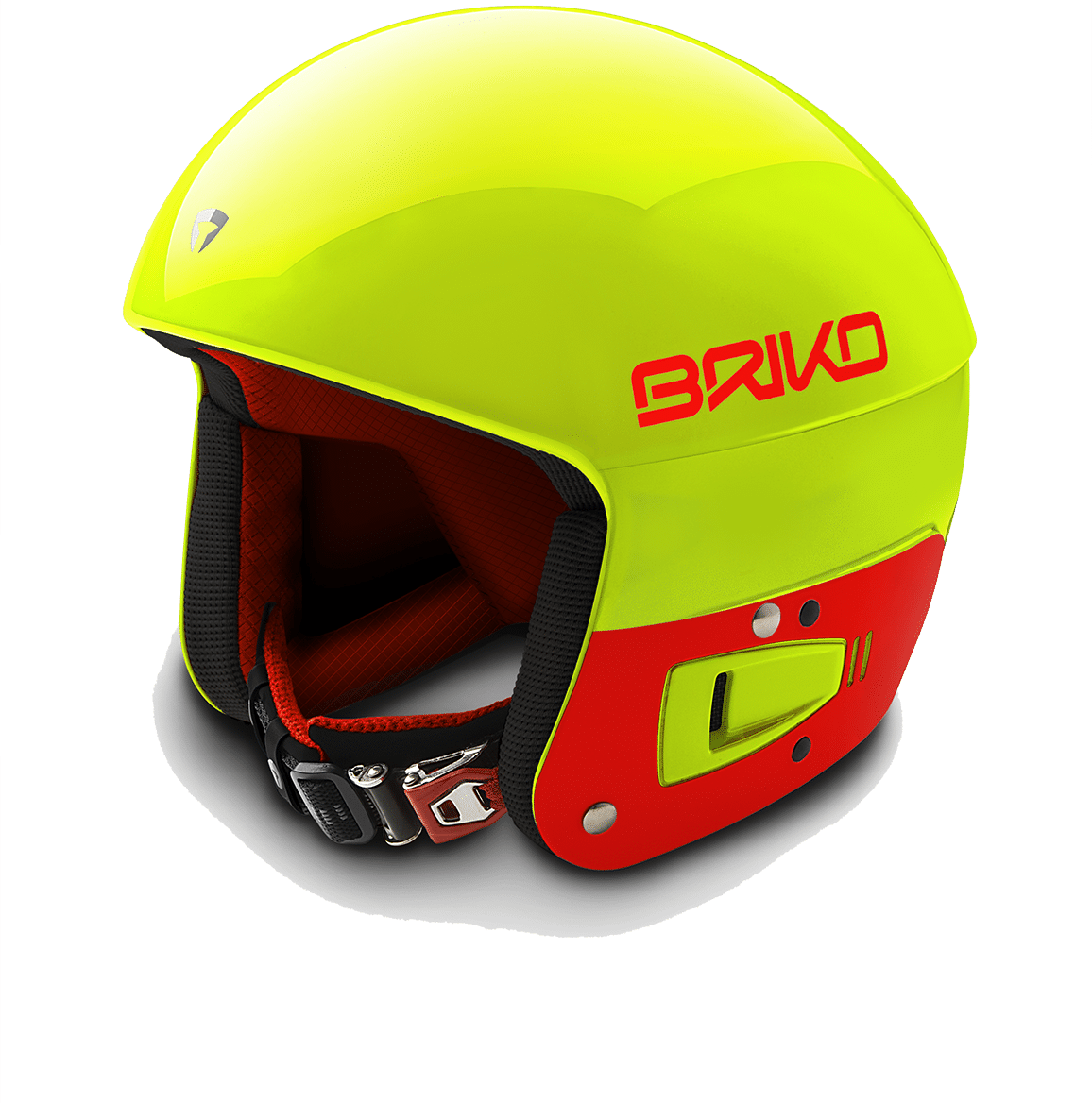 Briko Vulcano FIS JR helmet - Yellow Fluo Orange Fluo