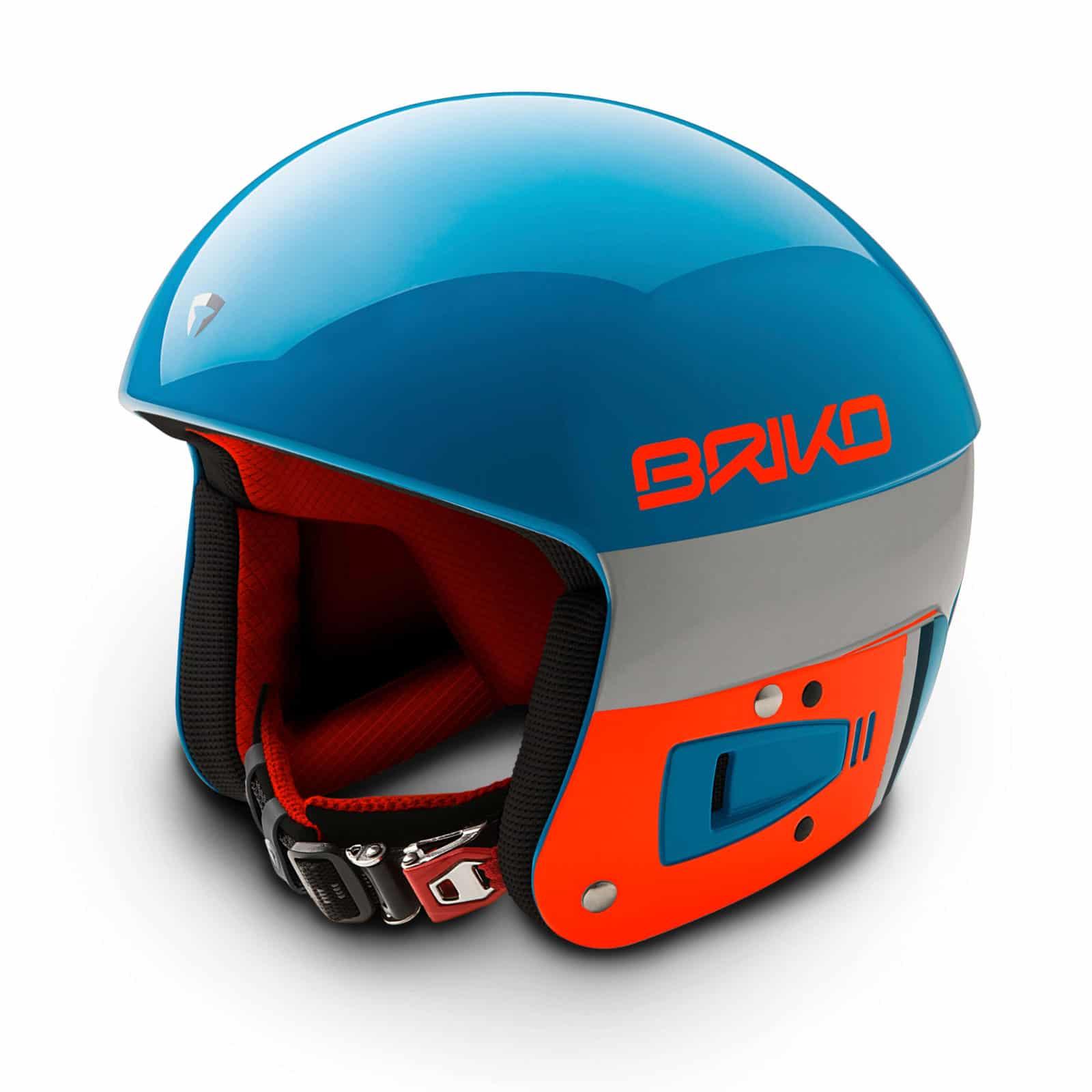 Briko Vulcano FIS Helmet - Light Blue Flouro Orange 1