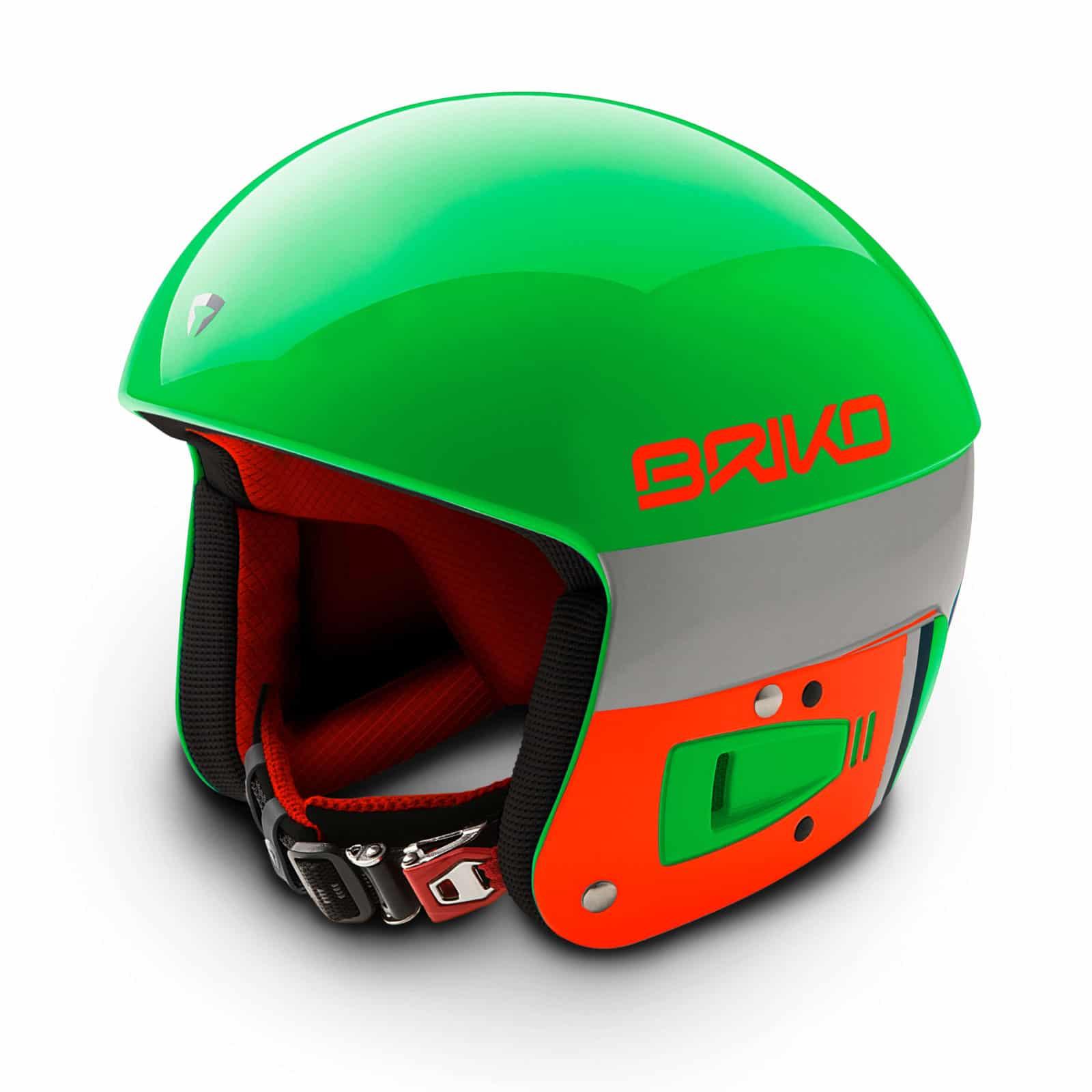 Briko Vulcano FIS Helmet - Green Flouro Orange