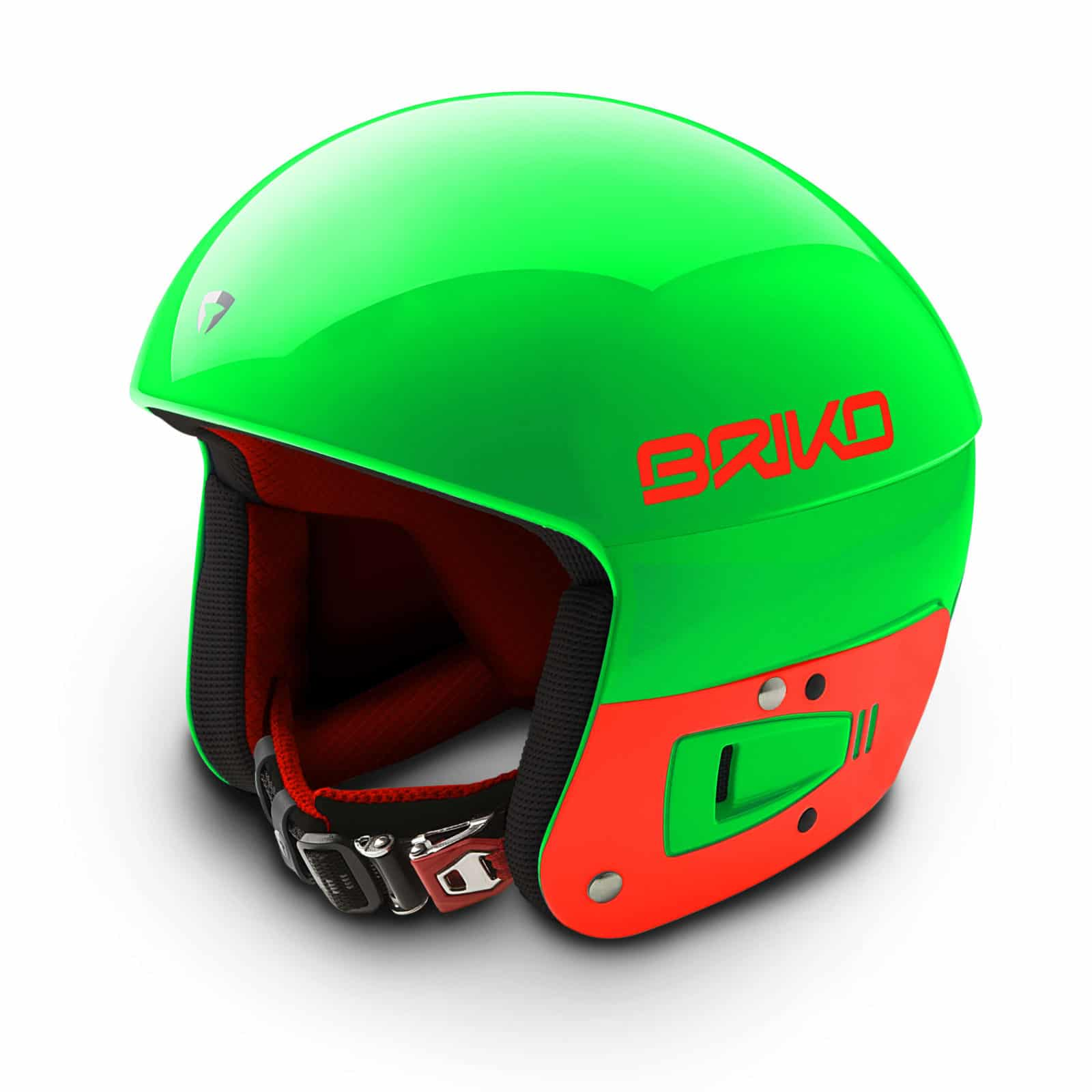 Briko Vulcano FIS JR Helmet - Green Flouro Orange
