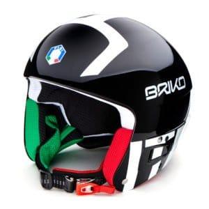 Briko Vulcano FIS Helmet - Italian FISI Black White