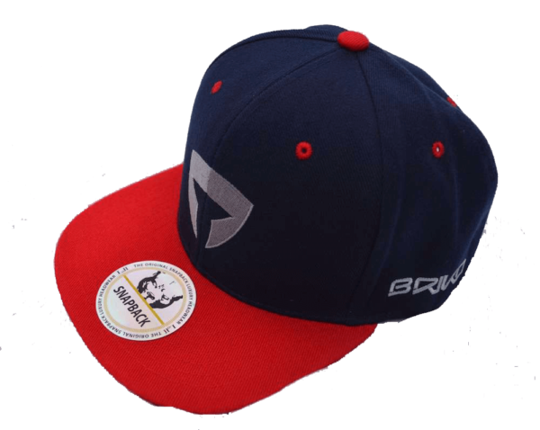 Flat Brim Cap-Navy/Red