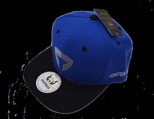 Flat Brim Cap-Blue/Black