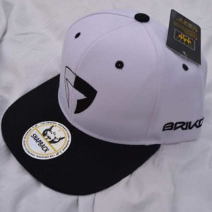 Flat Brim Cap-White/Black