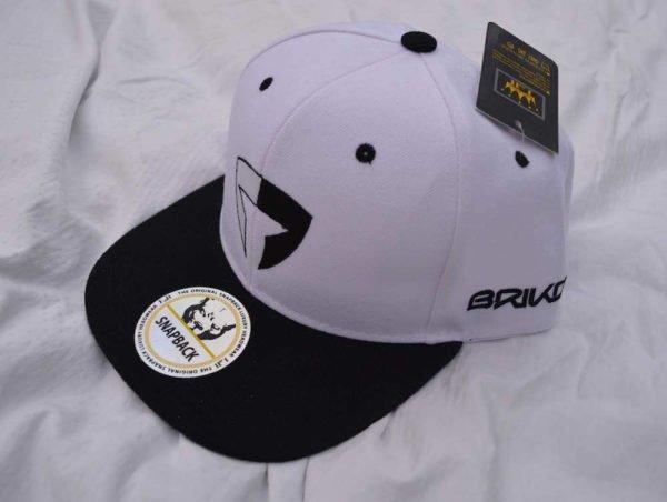 Flat Brim Cap-White/Black