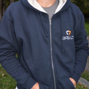 Heavy Weight Fleece Lined Full Zip Hoodie-Dark Blue