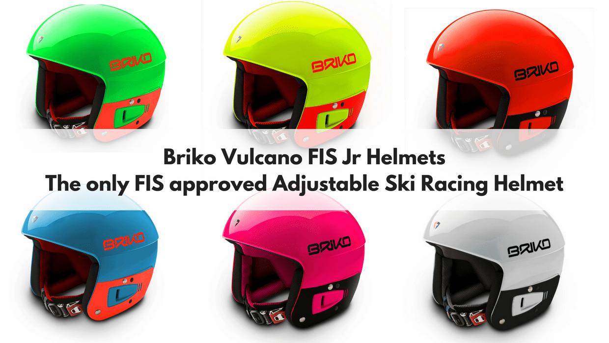 Briko Vulcano FIS Jr adustable ski racing helmets in many colors