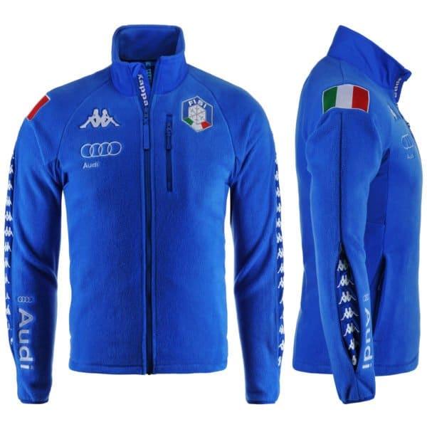 KAPPA 6CENTO 687 MASK FISI Full Zip Fleece Jacket - Blue Night/White