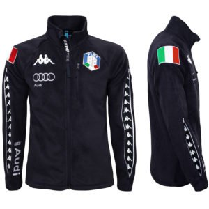 KAPPA 6CENTO 687 MASK FISI Full Zip Fleece Jacket - Blue Night/White 1
