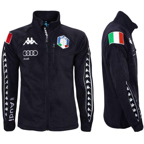KAPPA 6CENTO 687 MASK FISI Full Zip Fleece Jacket - Blue Night/White 1