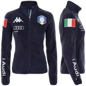 KAPPA 6CENTO 688 MASK FISI Women's Full Zip Fleece Jacket - Blue Night/White