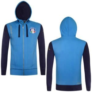 KAPPA FISI Hooded Fleece Jacket - Azzurro ITALIA/Blue