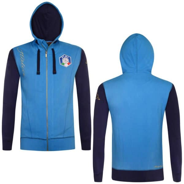 KAPPA FISI Hooded Fleece Jacket - Azzurro ITALIA/Blue