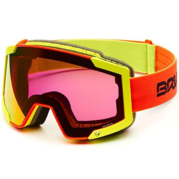 LAVA 7.6 Goggles - 2 lenses - Black Yellow Flouro/YM2P1 Yellow Mirror - Pink