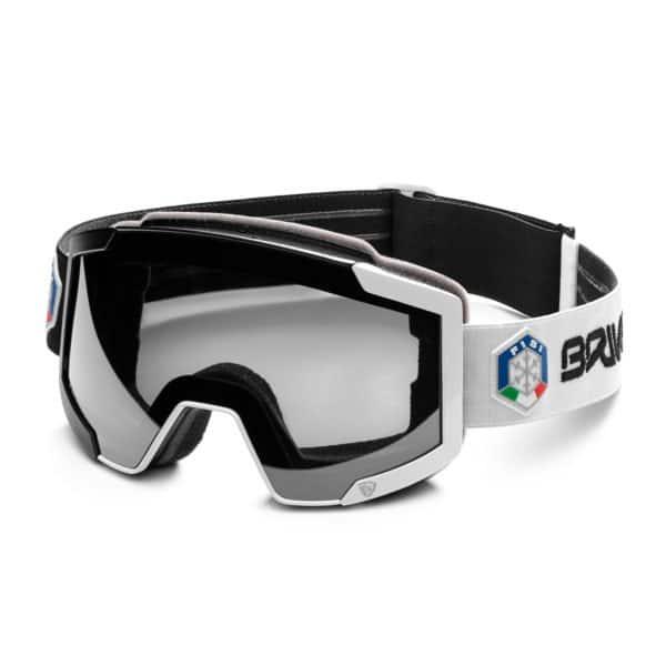 LAVA 7.6 ITALY FISI Goggles - 2 lenses - Black Black White/SM3P1 Silver Mirror -Pink