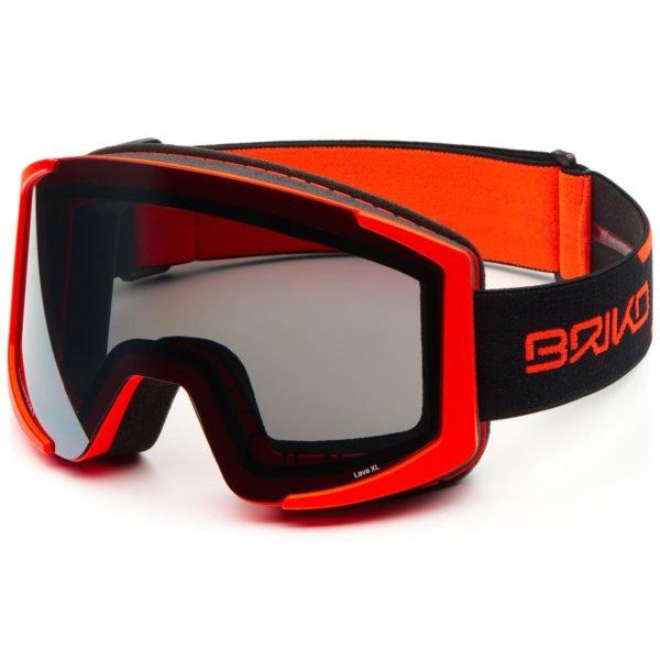 LAVA XL OTG Goggles - Matt White Black/SM3 Silver Mirror 1