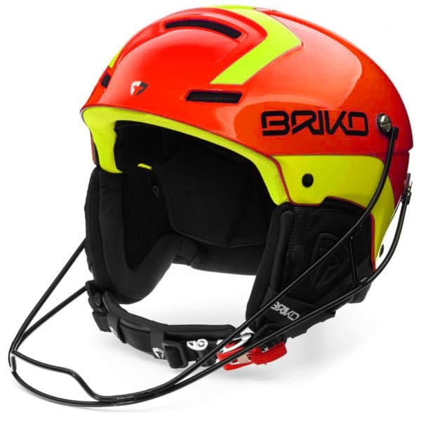 Briko Slalom Helmet with Chin guard - Shiny Orange Yellow