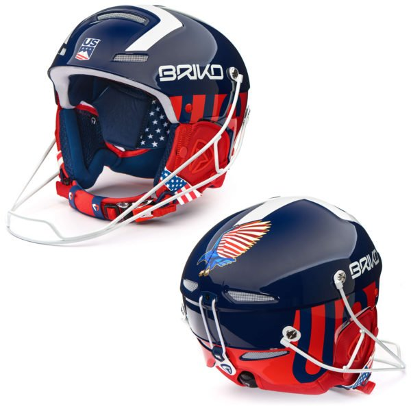 USA Slalom Helmet with Chinguard