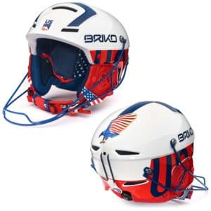 USA Slalom Helmet with Chin guard - white