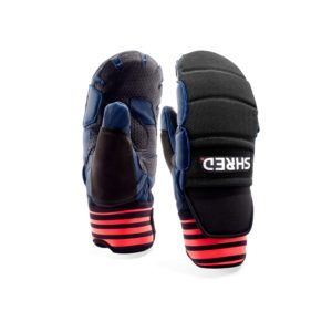 Shred Ski Race Protective Mitts - Navy/Rust on World Cup Ski Shop