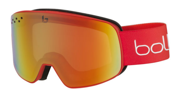 Bolle Nevada Matte Red Photochromatic Fire Red on World Cup Ski Shop